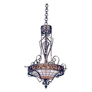Кованый светильник «Мозаичная люстра»