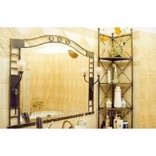 Кованое зеркало и кованая этажерка  для ванной  None