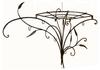 """Вешалка  угловая настенная  кованая """"Весенний букет"""" в стиле Прованс ПР23-532"""
