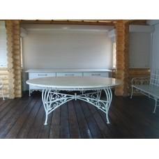 """Кованый стол с каменной столешницей """"Родос"""" None"""